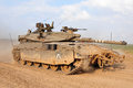 Israeli idf tank merkava nachal oz isr nov patrols along gaza on nov it s battle designed for rapid repair of battle damage Royalty Free Stock Image