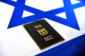 Israeli passport jerusalem july on the national flag of israel on july citizens can hold foreign passports but requires Royalty Free Stock Photo
