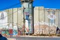 Israeli separation barrier Royalty Free Stock Photo