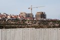 Israeli settlement and separation wall Royalty Free Stock Photo