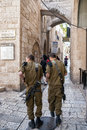 Israeli soldiers Jerusalem Royalty Free Stock Photo