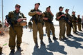 Israeli Soldiers in West Bank Stock Image