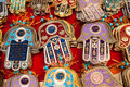 Israeli souvenirs lots of hamsa Royalty Free Stock Image