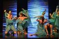 Israeli teen ballet group dancers Royalty Free Stock Photo