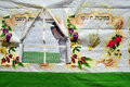 Israelis are preparing for the jewish holiday sukkoth sderot isr oct israeli man inside a sukkah on oct sukkot commemorates time Royalty Free Stock Photos