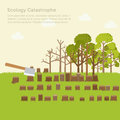 Issue deforestation illustration design background concept Stock Photos