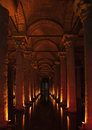 Istanbul basilica cistern Royalty Free Stock Photos