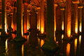 Istanbul basilica cistern ancient underground for water storage landmark Stock Photography