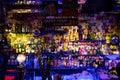 stock image of  Istanbul, Beyoglu / Turkey 04.11.2019: Blues House, Colorful Design Bar Shelf