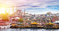 Istanbul the capital of turkey eastern tourist city Royalty Free Stock Photo