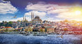 Istanbul the capital of turkey eastern tourist city Stock Image