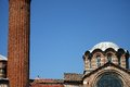 Istanbul church and mosque detail Royalty Free Stock Image