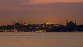 Istanbul city at night picture Royalty Free Stock Photo