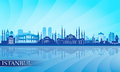 Istanbul city skyline detailed silhouette vector illustration Stock Photo