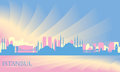 Istanbul city skyline vector silhouette illustration Royalty Free Stock Photo