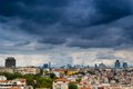 Istanbul cityscape as seen from the Bosphorus Stock Images
