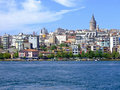 Istanbul cityscape with galata tower at top Royalty Free Stock Images