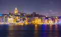 Istanbul cityscape at night Royalty Free Stock Photo