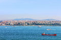 Istanbul coast asian side saw from topkapi palace turkey Royalty Free Stock Photo