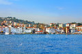 Istanbul coast european side saw from bosphorus Stock Photo