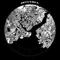 Istanbul Compass Design Map Artprint Royalty Free Stock Photo