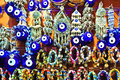 Istanbul Grand Bazaar - Turkish Blue Eyes (Nazar) Stock Images