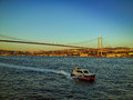 Istanbul landscape on bosforus Royalty Free Stock Photo