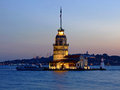 Istanbul lighthouse maiden tower historic landmark in Stock Images