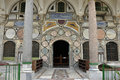 Istanbul mosque entrance, knows the conquest of Istanbul's Eyüp Sultan nibs of space Royalty Free Stock Photo