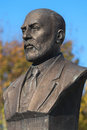 Istanbul nov a bronze bust or statue of mehmet akif ersoy writer the turkish national anthem istiklal marsi independence hymn Stock Photography