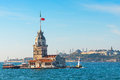 Istanbul nov maidens tower kizkulesi located in the mid maiden s middle of bosporus november turkey Royalty Free Stock Images