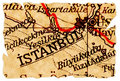 Istanbul old map Royalty Free Stock Photo
