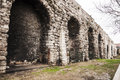 Istanbul the old roman aqueduct in the city of turkey Stock Image