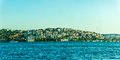 Istanbul panorama of the sailing bosphorus turkey Stock Photography