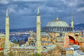 Istanbul photo of and a dramatic sky Royalty Free Stock Photography