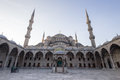 Istanbul`s Blue Mosque at Sunrise Royalty Free Stock Photo