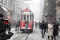 Istanbul on a snowy day Royalty Free Stock Image