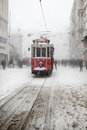 Istanbul on a snowy day Stock Photography
