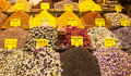 Istanbul spice market tea in the medieval ready for sale Stock Photos
