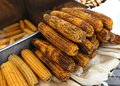 Istanbul street food corn on the cob Royalty Free Stock Image