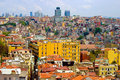 Istanbul turkey aerial panorama of Royalty Free Stock Photo