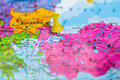 Istanbul Turkey map Royalty Free Stock Photo