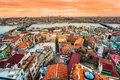 Istanbul turkey view from galata tower Royalty Free Stock Photography