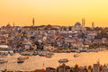 Istanbul, Turkey, View on Golden Horn bay from Galata Tower Royalty Free Stock Photo