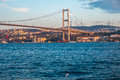 Istanbul the turkish city between asia and europe divided by bosphorus sea Stock Photos