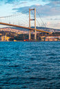 Istanbul the turkish city between asia and europe divided by bosphorus sea Royalty Free Stock Photo