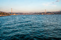 Istanbul the turkish city between asia and europe divided by bosphorus sea Royalty Free Stock Images