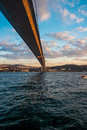 Istanbul the turkish city between asia and europe divided by bosphorus sea Royalty Free Stock Photos
