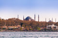 Istanbul View from the sea. Hagia Sophia. Travel Turkey Royalty Free Stock Photo