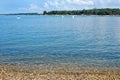 Istria peninsula beach in Porec Royalty Free Stock Photo
